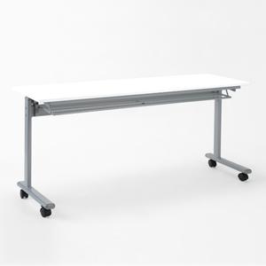 会議テーブル ミーティング 折りたたみ式 キャスター 会議机 研修 塾 幅150cm 奥行45cm 白 ホワイト EED-FD011W
