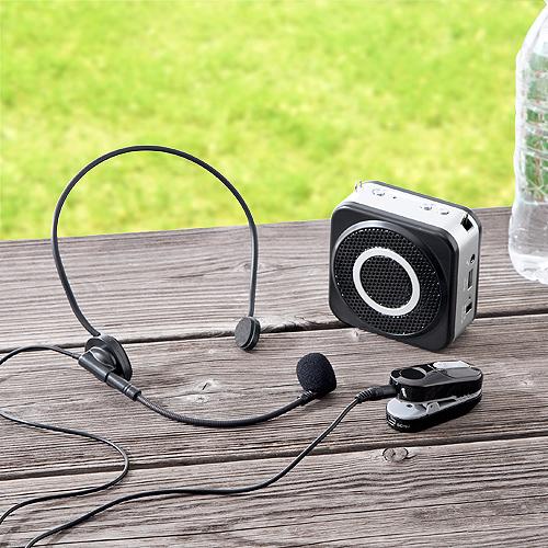 ポータブル拡声器 ワイヤレス 10W 小型 マイクセット ハンズフリー 最大20m イベント 講演 400-SP048 サンワサプライ