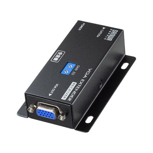 モニター延長器 VGA 受信機 エクステンダー LAN ケーブル VGA-EXRN サンワサプライ