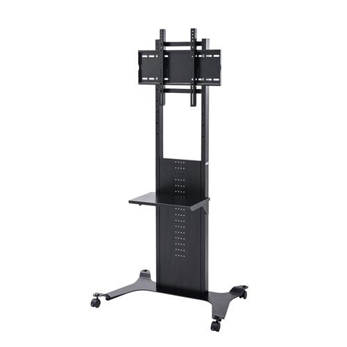 テレビスタンド テレビ台 ハイタイプ 壁寄せ 置き型 縦置き 高さ調整 棚 32から65インチ対応 CR-PL34BK サンワサプライ