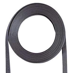 プロテクト加工でカーペットの下にすっきり配線、アンダーカーペットLANケーブルのみ グレー 100m KB-CP5-CB100 サンワサプライ