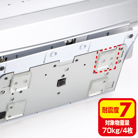 【訳あり 新品】耐震マット(透明タイプ・100枚・中サイズ) QL-E75CL-25 サンワサプライ