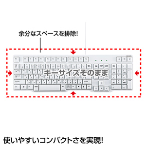 White SKB-L1U Sanwa Supply with the USB keyboard drainage function ※There  are a wound, a dirt in a box