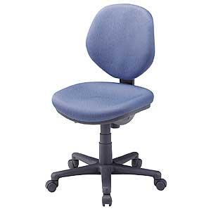 オフィスチェア ミドルバック 低ホルムアルデヒド ロッキング 布張り 撥水加工 モールドウレタン 高さ調節 肘なし キャスター グリーン購入法 ブルー SNC-ECO1BLN サンワサプライ