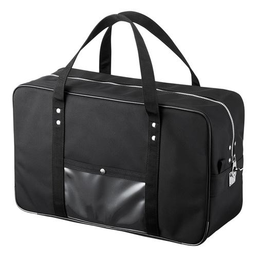 メールボストンバッグ 宅配バッグ Lサイズ ブラック BAG-MAIL2BK サンワサプライ