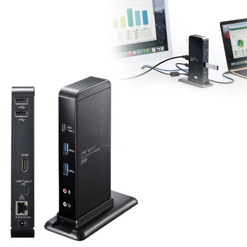 【訳あり 新品】USBドッキングステーション(Type-C対応) USB-CVDK2 サンワサプライ ※箱にキズ、汚れあり