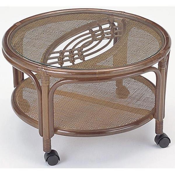 【送料無料】籐テーブル丸型D-T-43B-I【籐家具・テーブル】