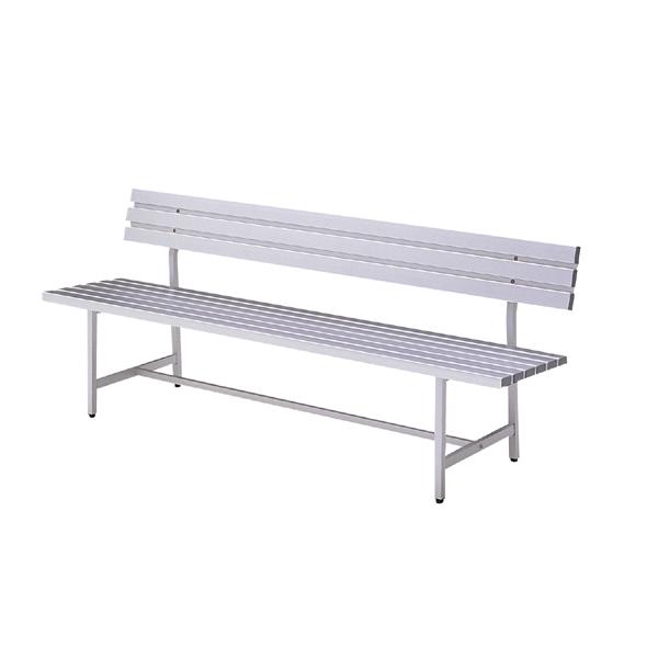ガーデンベンチ 屋外ベンチ 在庫処分 パークベンチ アルミ おしゃれ おすすめ 公園 背もたれ 長椅子 野外 倉庫 送料無料 背付 アルミベンチ 業務用 ALB-5 10%OFFクーポン配布中 3人掛け