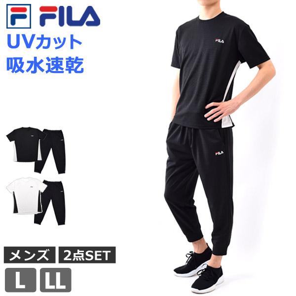 0c0bf19a715aa2 FILA (フィラ) スポーツウェア メンズ 3点セット 吸水速乾 UVカット 半袖