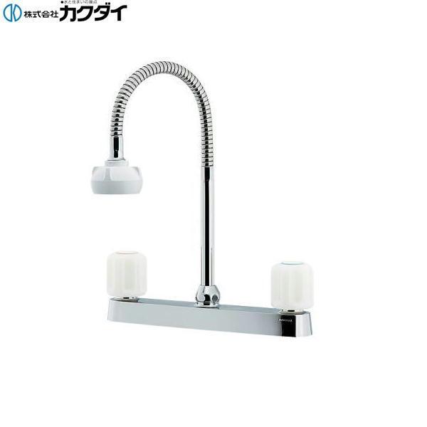 カクダイ[KAKUDAI]キッチン用2ハンドル混合栓(シャワー付き)151-008K[寒冷地仕様][送料無料]