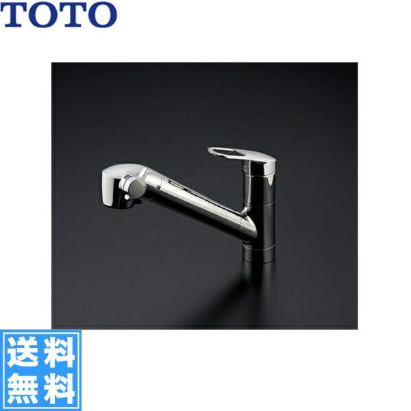 [TKGG38ER]TOTOキッチン用シングル混合水栓[台付き1穴]ハンドシャワー・吐水切り替えタイプ[浄水器兼用混合水栓]【送料無料】