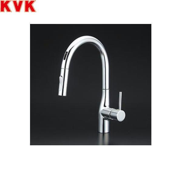 [KM6071ZEC]KVK流し台用シングルレバー式シャワー付混合水栓[センサー付][寒冷地仕様][送料無料]