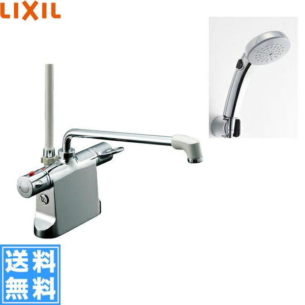 リクシル[LIXIL/INAX]シャワーバス水栓[サーモスタット・デッキタイプ][ビーフィットシリーズ][寒冷地仕様]BF-B646TNSCW(300)-A100【送料無料】