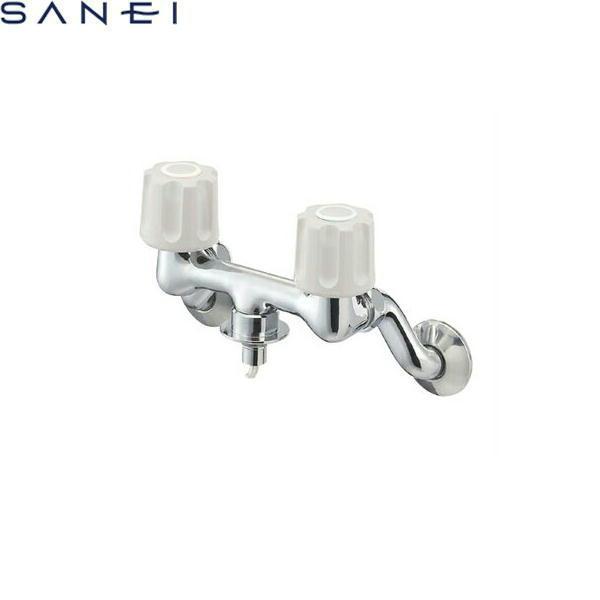 三栄水栓[SAN-EI]ツーバルブ洗濯機用混合栓K1101TV-1-LH[一般地仕様][送料無料]