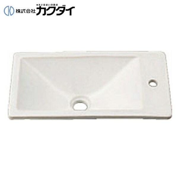 カクダイ[KAKUDAI]角型手洗器493-010-W(月白)