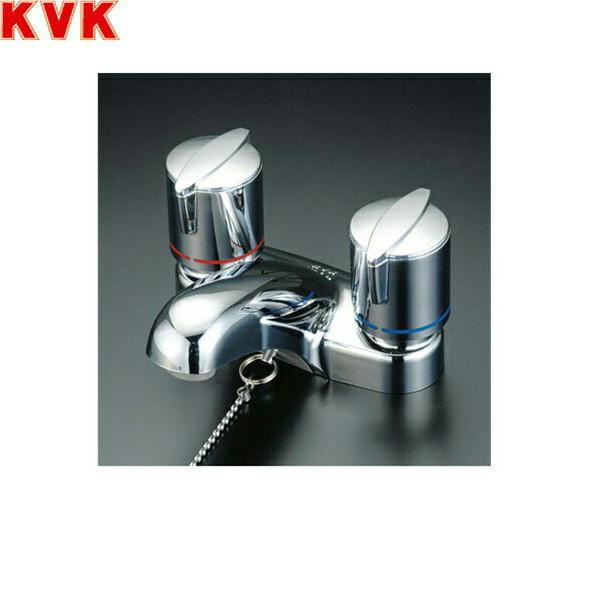 KVK洗面用2ハンドル混合栓(ゴム栓付)KM66GB[一般地仕様]【送料無料】