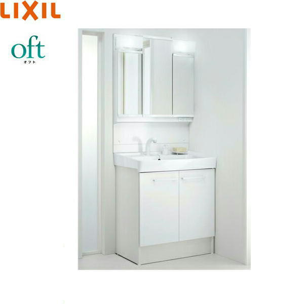 [FTVN-755SY1+MFTV1-753TXJU]リクシル[LIXIL/INAX][オフト]洗面化粧台セット[セット間口750]【送料無料】