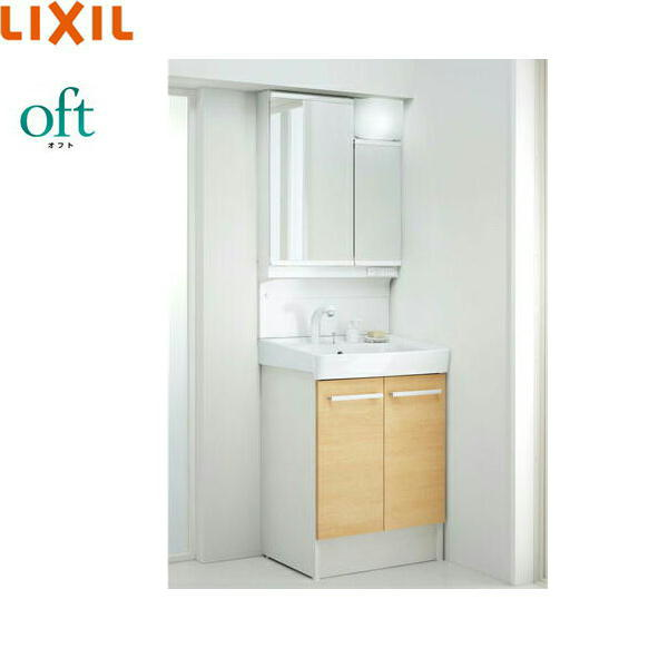 [FTVN-605SY1-W+MAJX2-602TZJU]リクシル[LIXIL/INAX][オフト]洗面化粧台セット[セット間口600][アジャストミラー]【送料無料】