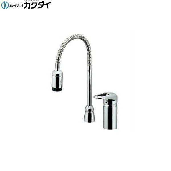 [185-516K]カクダイ[KAKUDAI]シングルレバー混合栓(シャワーつき)[寒冷地仕様][送料無料]