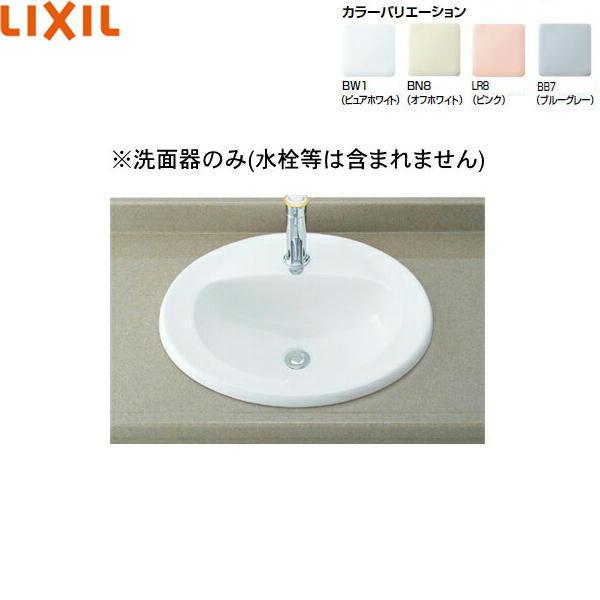 [L-2394]リクシル[LIXIL/INAX]はめ込みだ円形洗面器[オーバーカウンター式]