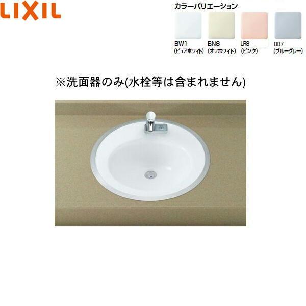 [L-2584]リクシル[LIXIL/INAX]はめ込み円形洗面器[フレーム式]