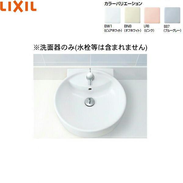 [L-543]リクシル[LIXIL/INAX]丸形洗面器[ベッセル・壁付兼用式]