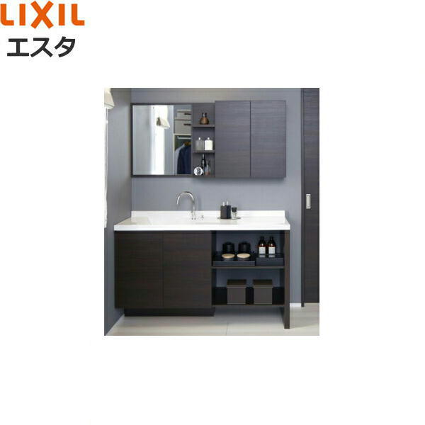 リクシル[LIXIL/INAX][エスタ]洗面化粧台などセット02[合計8点]システムタイプ[間口1350mm][送料無料]