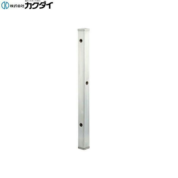 ご予約品 624-113 カクダイ KAKUDAI 送料無料 ステンレス水栓柱 分水孔つき 送料無料 1200mm 70角