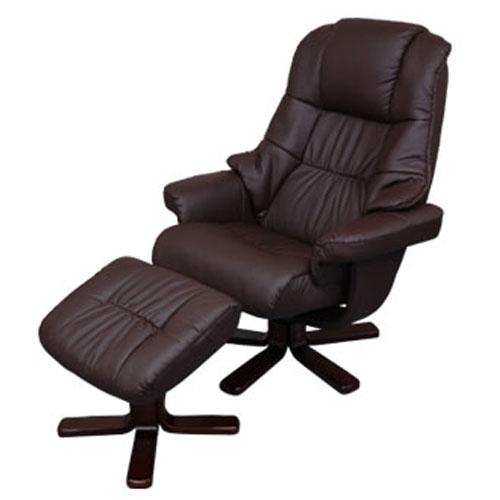 【 クーポンで5,160円引き 】 パーソナルチェア オフィスチェア 椅子 リクライニングチェア いす イス 合皮 ハイボリュームチェア ブラウン プレゼント おしゃれ 送料無料