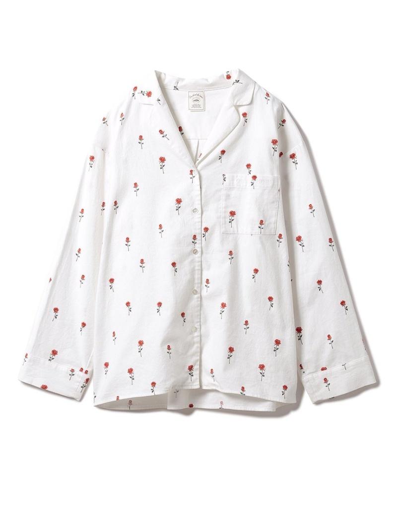 gelato pique レディース インナー ナイトウェア ジェラートピケ ネルモチーフモチーフシャツ ルームウェア トップス ショップ Fashion ホワイト 送料無料 感謝価格 Rakuten ピンク