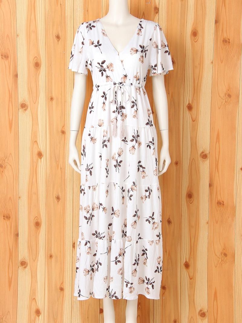 [Rakuten Fashion]ヴィンテージローズ柄ドレス gelato pique ジェラートピケ インナー/ナイトウェア ルームウェア/その他 ホワイト ピンク【送料無料】