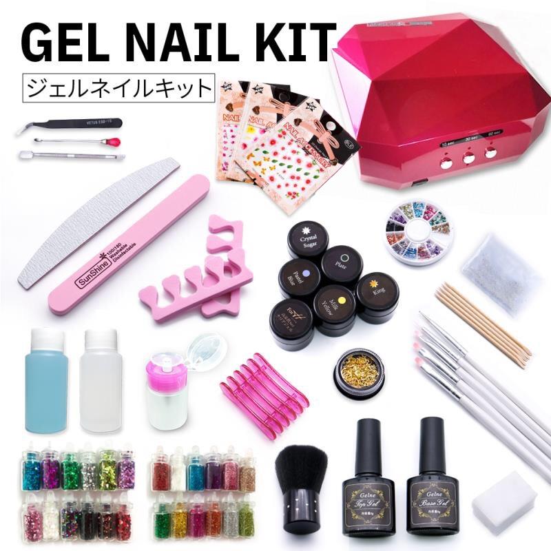 gelne: The color gel five gel nail kit nail set color gel set which ...