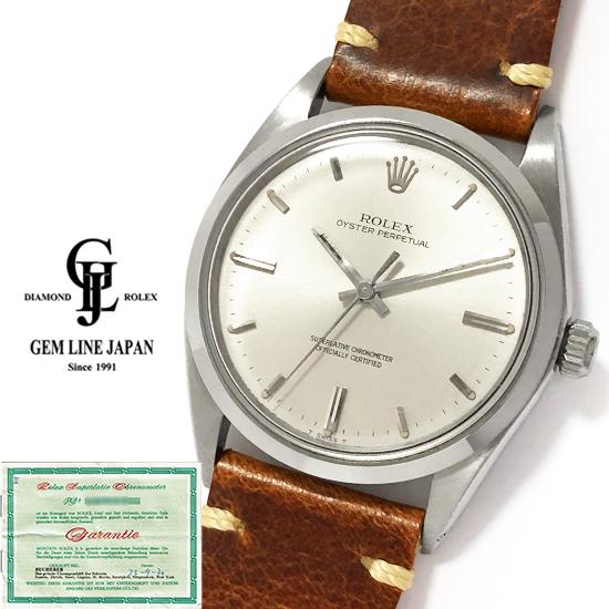 【中古】ブッフェラー ギャラ付 アンティーク ロレックス オイスターパーペチュアル 1018 メンズ 自動巻 腕時計