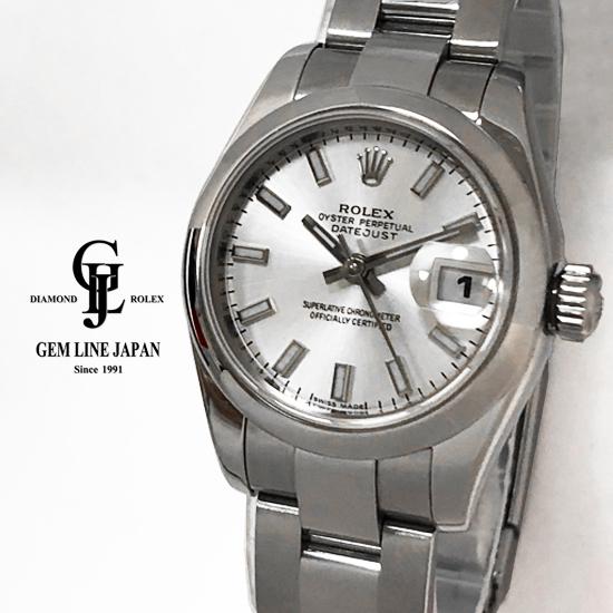 【中古】ロレックス デイトジャスト 179160 Z番 シルバーバー レディース 自動巻き 腕時計