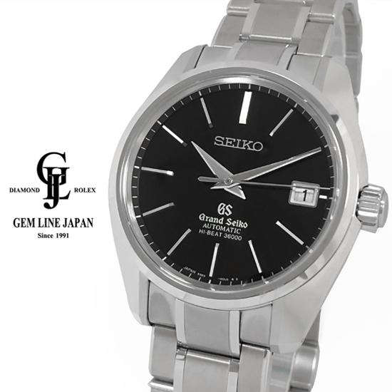 【中古】美品 グランドセイコー SBGH045 メカニカルハイビート36000 黒文字盤 メンズ 自動巻き 腕時計