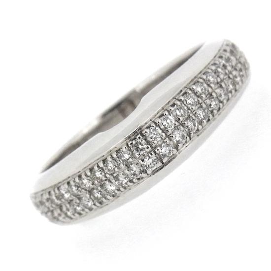 未使用品シャリオール ダイヤモンド リング ラウンドカット K18WG 指輪
