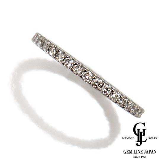 【中古】【美品】Aランクダイヤ使用 フルエタニティーダイヤモンド0.47ct Pt950リング