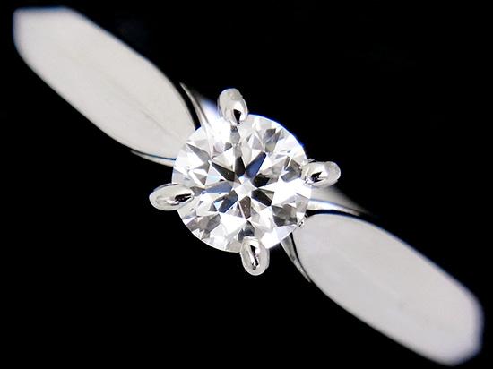 MIKIMOTO ミキモト 指輪 ダイヤモンド ハートアンドキューピッド E-VS1-EXCELLENT 一粒ダイヤ0.217ct プラチナリング【中古】