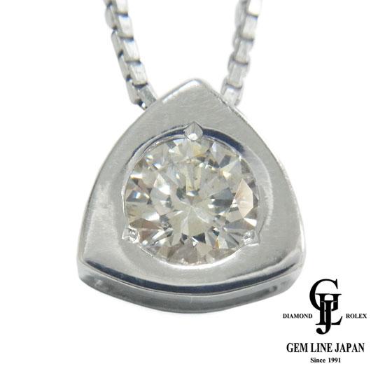 【中古】ダイヤモンド 0.569ct ネックレス レディース プラチナ