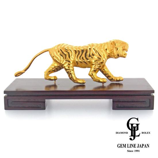 【美品】純金 置物 K24 虎 139.2g【中古】