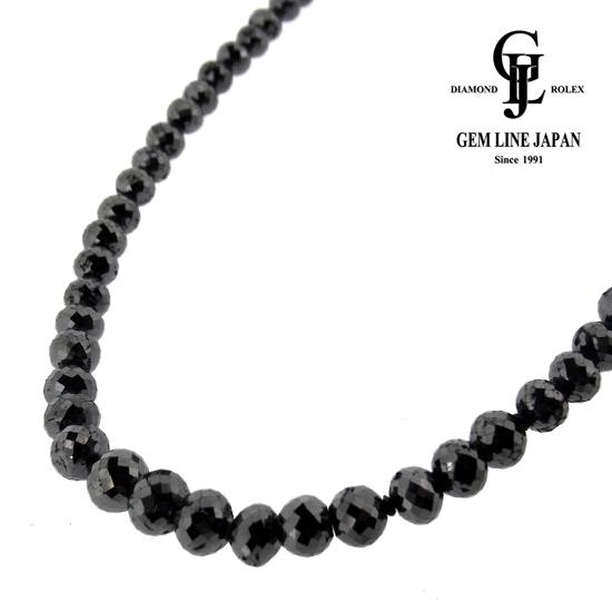 【新品】ブラックダイヤモンドネックレス