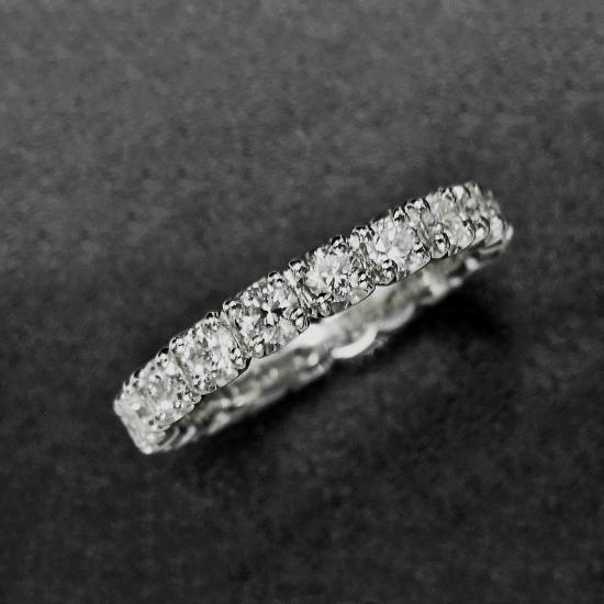 【新品】フルエタニティ 良質 ダイヤモンド 1.00ct リング プラチナ 9号