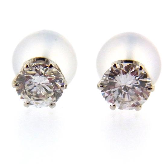 美しく輝く一粒ダイヤ 良質ダイヤモンド計0.63ct Pt900ピアス【新品】