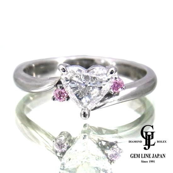 【新品同様】ハートシェイプ ダイヤモンド リング プラチナ 0.568ct Gカラー SIクラス レディース【中古】