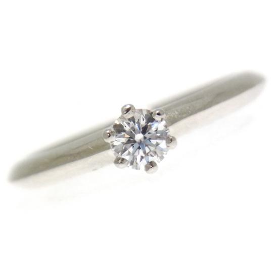TIFFANY&CO. ティファニー ダイヤモンド リング プラチナ ソリティア 0.2ct【中古】