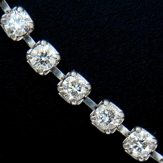 良質 ダイヤモンド 2.00ct テニスブレスレット プラチナ レディース【中古】