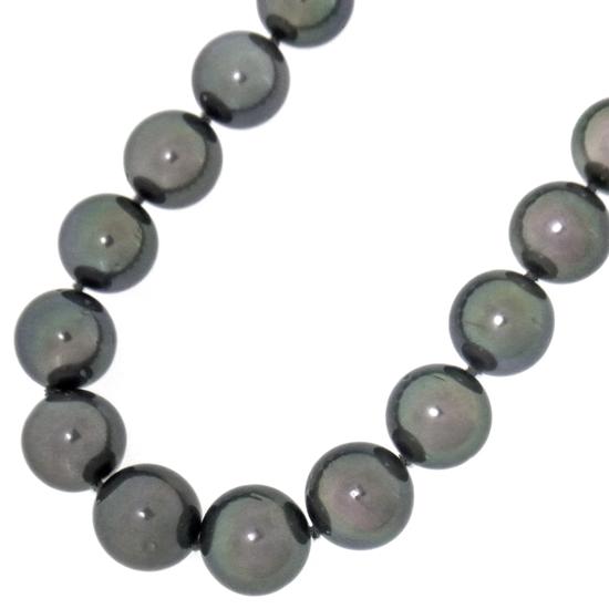 ピーコックカラー黒蝶真珠11.0mm~13.0mmネックレス【b1123】【新品】