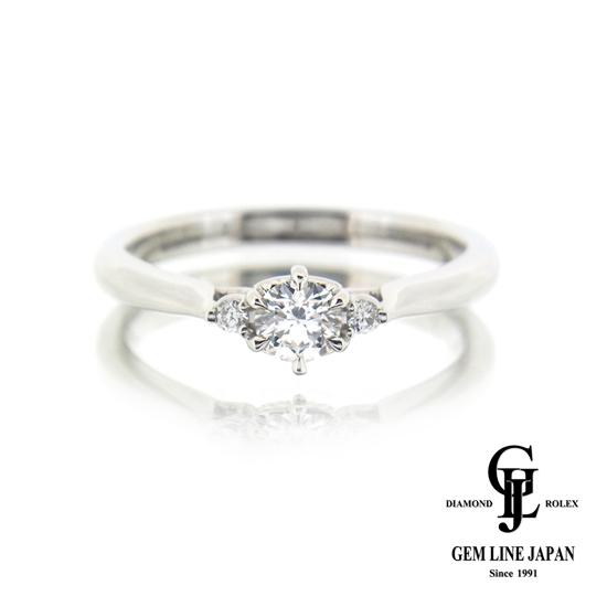 【美品】ハートアンドキューピッド ダイヤモンド リング 0.228ct Gカラー SI1クラス エクセレントカット プラチナ 他ダイヤ0.03ct 指輪