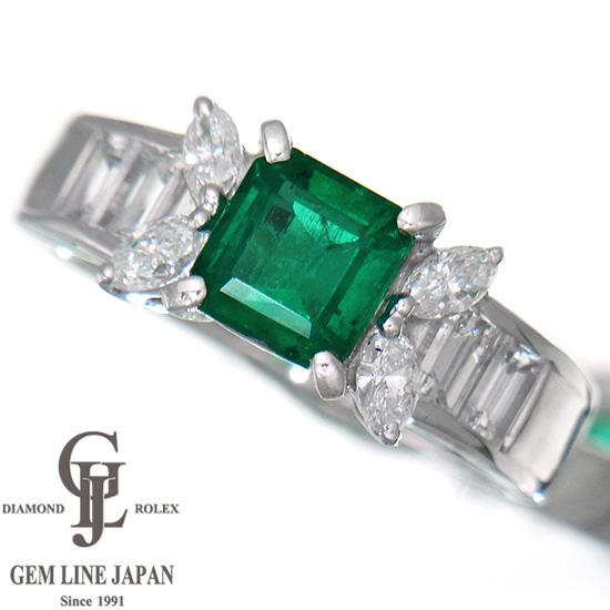 上質エメラルド1.02ct プラチナ リング 上質ダイヤモンド1.00ct レディース【中古】