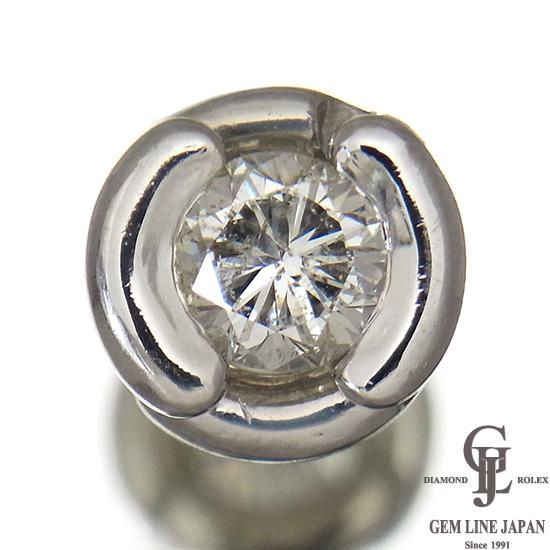 【中古】一粒 ダイヤモンド0.863ct 片耳/片方 プラチナピアス メンズ/レディース